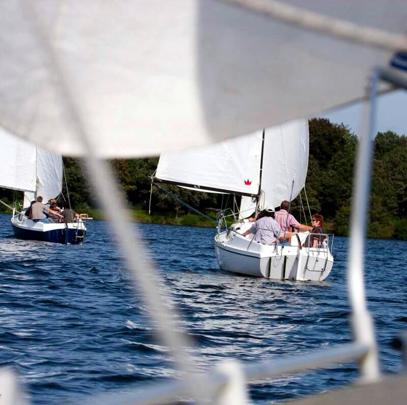Segel Boote auf dem Halterner Srtausse